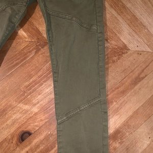 BDG Army Green Jeans with Ankle Zippers
